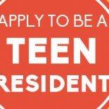 teen resident sign